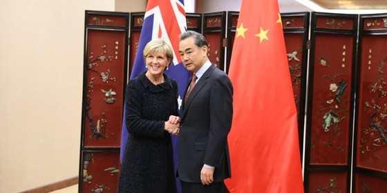 Minister bishop and minister wang at foreign and strategic dialogue