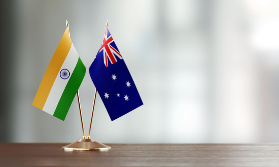 Aus indian flags