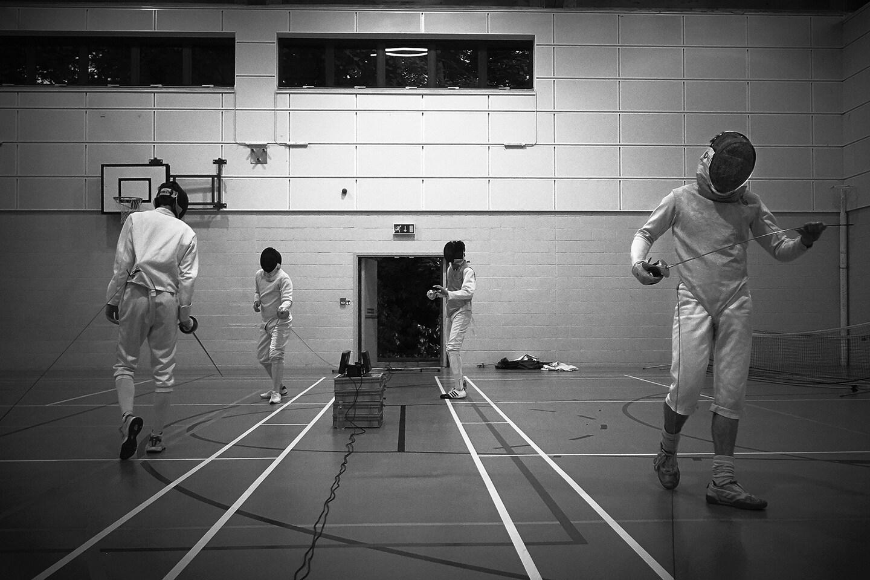 Fencing b w