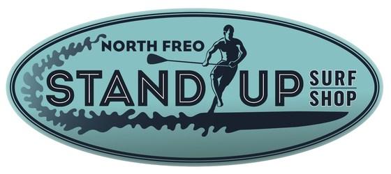 Stand up surf shop logo