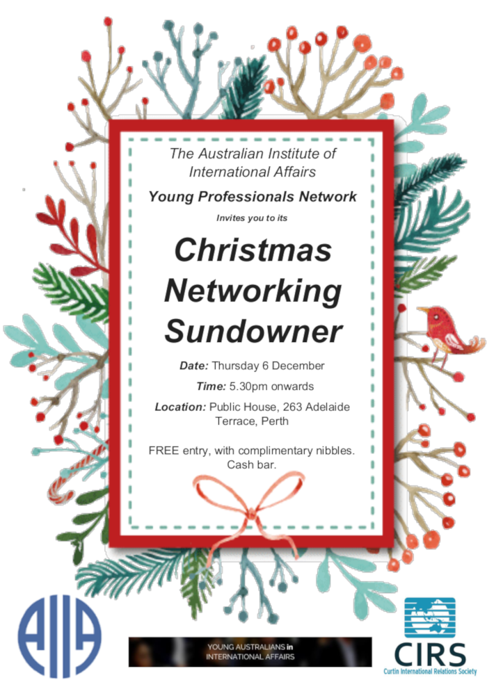 YPN Christmas Networking Sundowner