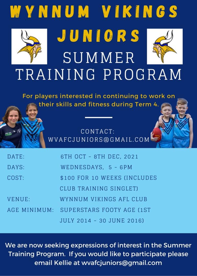 Summer program flyer