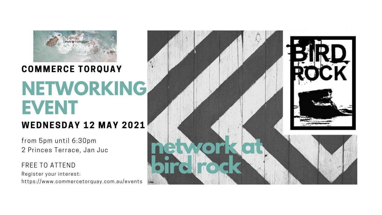 Bird rock networking event invite